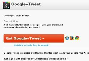 Google+Tweet, conecta Twitter con Google+