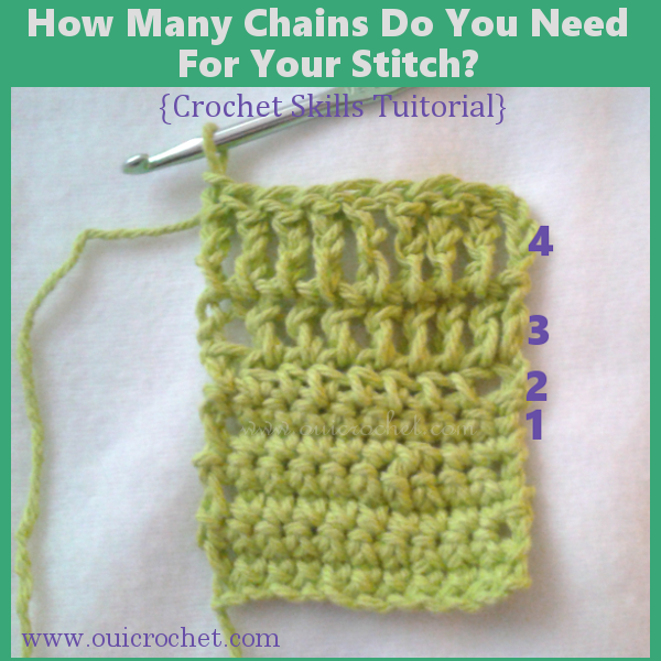 How Many Chains Do You Need For Your Stitch? {Crochet Skills Tutorial}