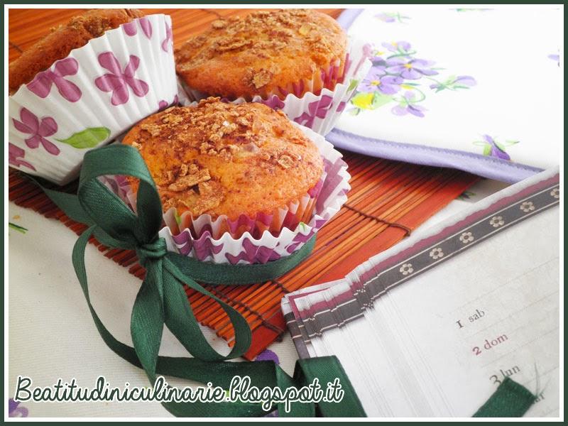 muffins alla mela e fiocchi d'avena