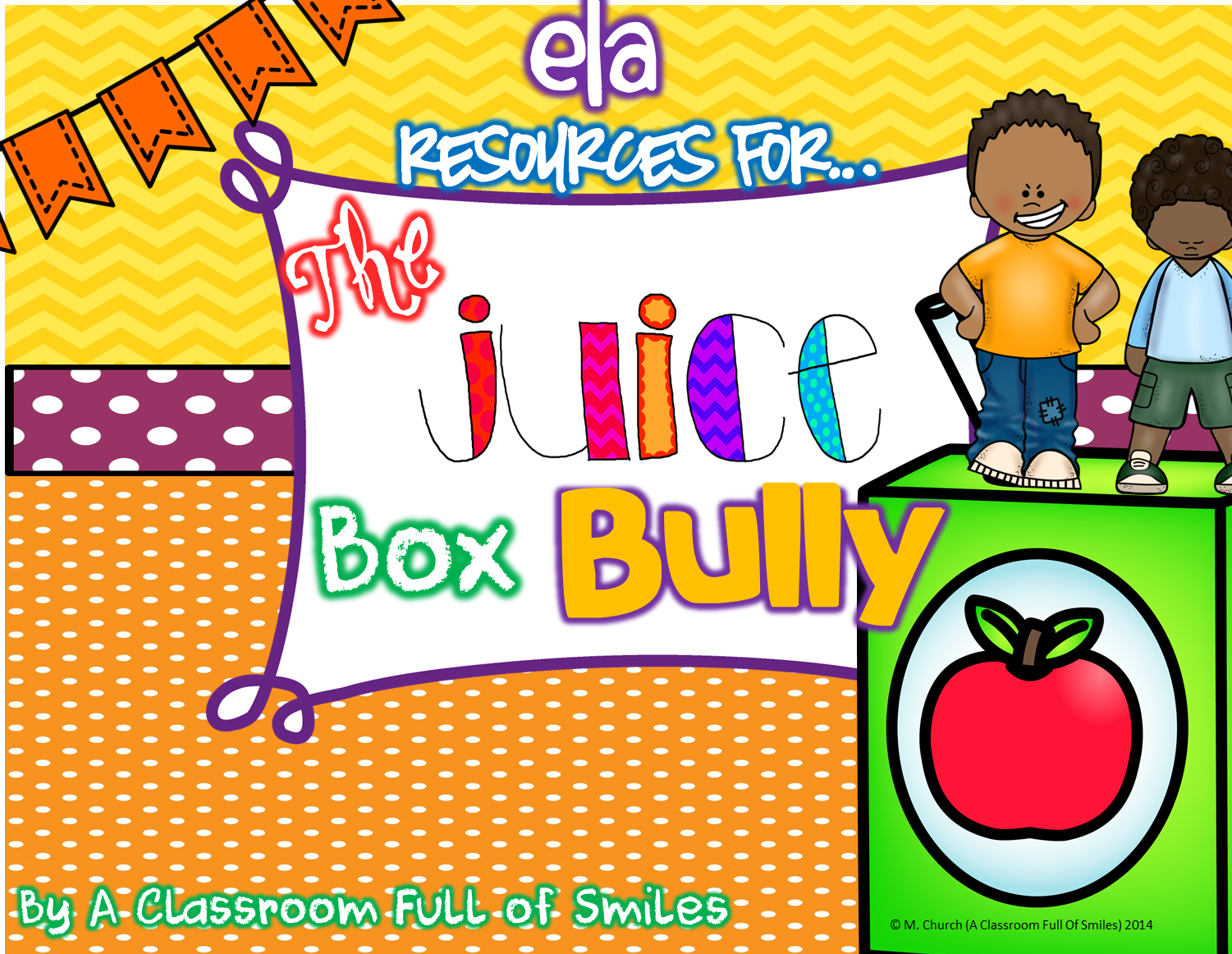 http://www.teacherspayteachers.com/Product/ELA-Resources-for-The-Juice-Box-Bully-Craftivity-Included-1289511