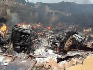 Midnight Fire Causes Mayhem At Yola Main Market