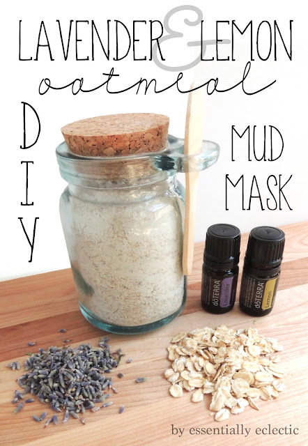 Lavender and Lemon Oatmeal Mud Mask via Essentially Eclectic