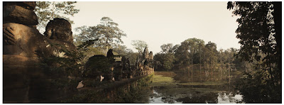 gate to angkor thom, cambodia