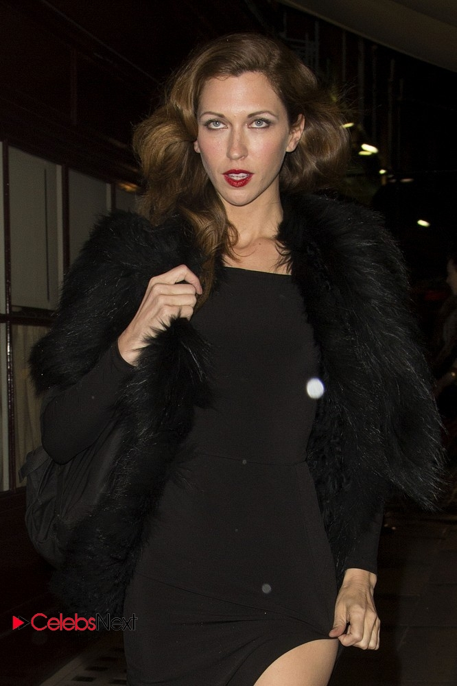 Margo Stilley Shows off Her Long Legs in Split Dress at Loulous Night Club London  0001.jpg