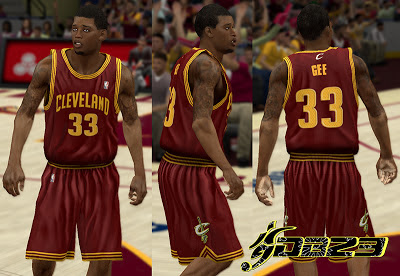 NBA 2K13 Cleveland Cavaliers Away Jersey Patch