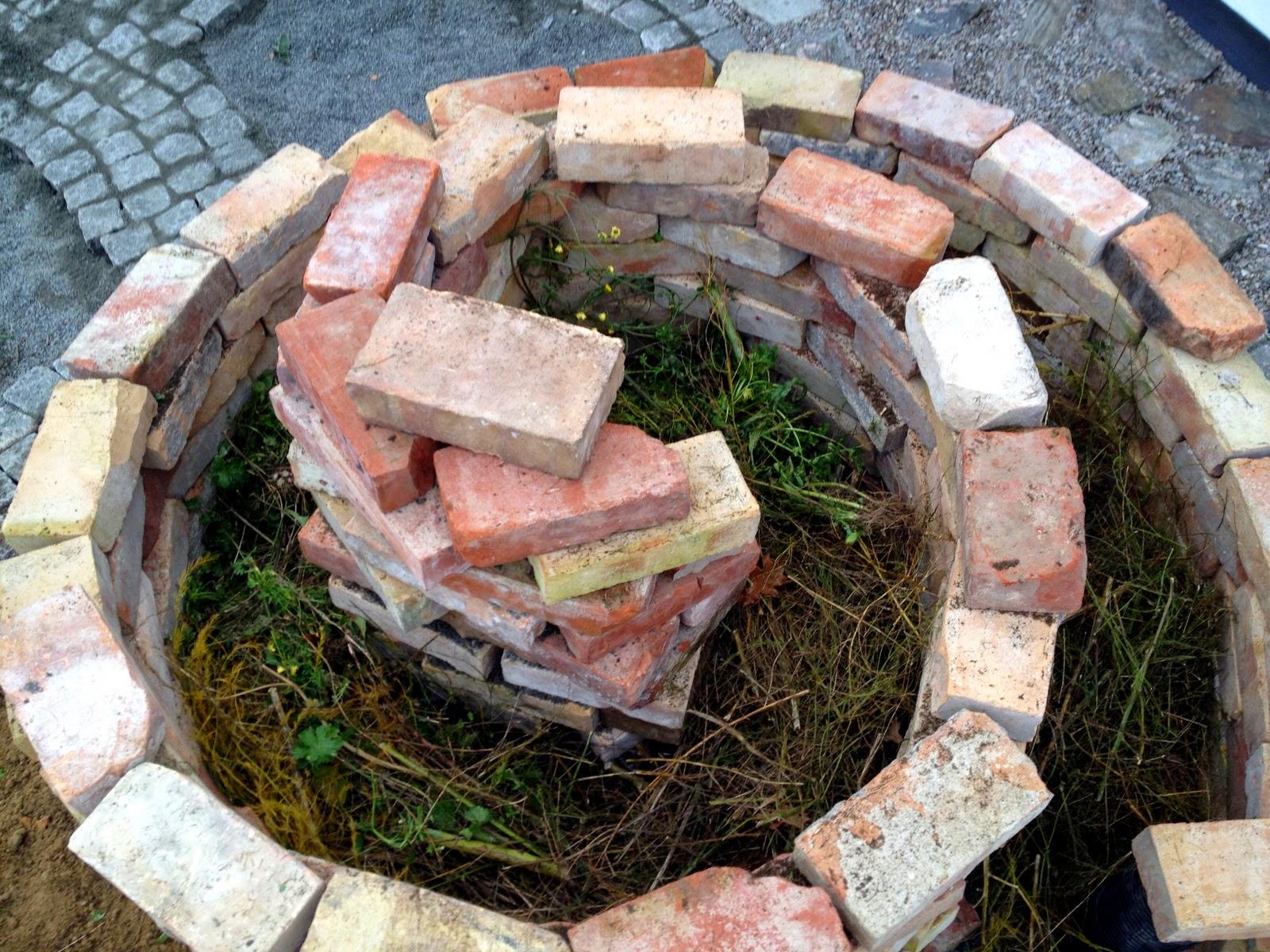 Villa Natura ekologiskt lågenergihus Österlen projektledare kryddspiral örtsnäcka keyhole gardening