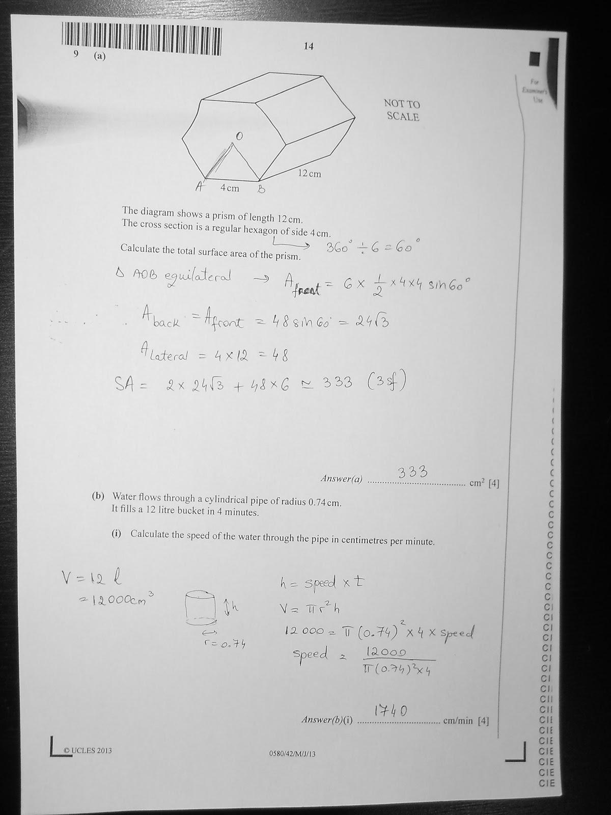 igcse mathematics past papers 2013