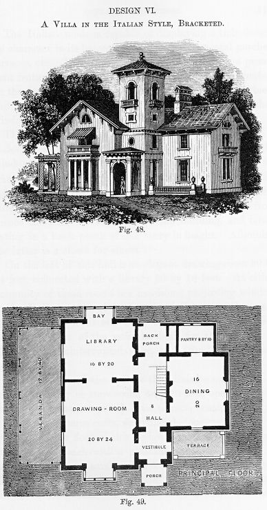 The picturesque style italianate architecture what do i for Italianate house plans