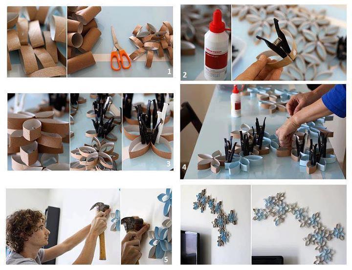 Un rinc n creativo decoraci n con rollos de papel higi nico - Decoracion con rollos de papel higienico ...