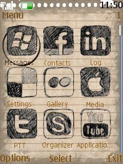 Tema Social Icon Nokia C2-03