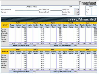 Timesheet Templates For Excel