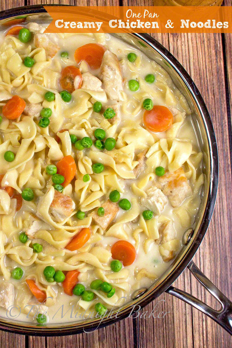Creamy chicken with noodles the midnight baker comfort food forumfinder Choice Image