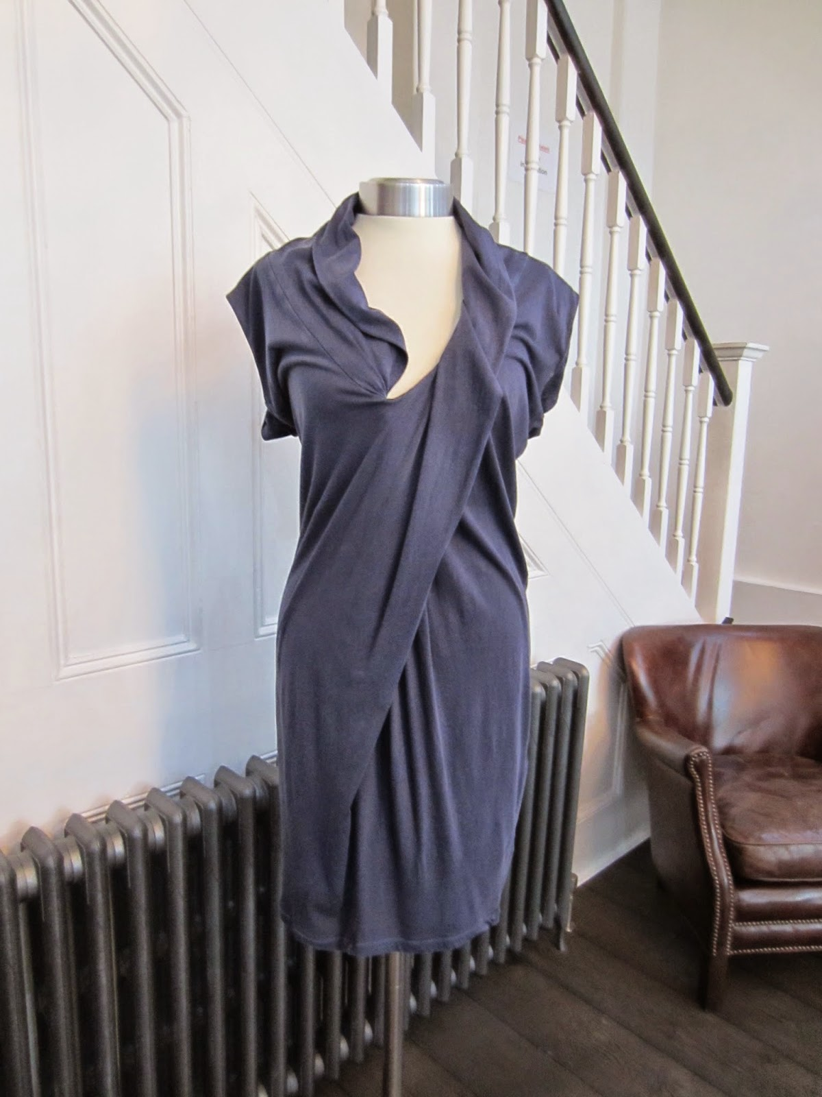 2nd Day Blue Cotton Distressed Finish Tunic Dress