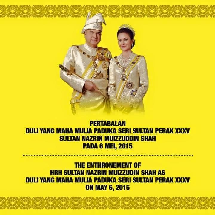 Istiadat Pertabalan Sultan Perak ke 35 6 Mei 2015