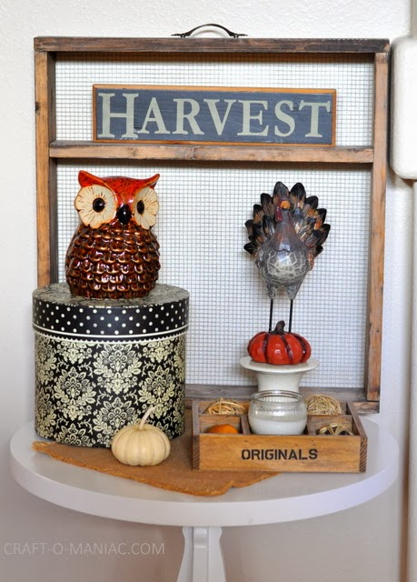 Harvest Table Decor Craft O Maniac