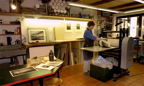 L 39 ex libris fran ais rare un atelier d 39 artiste graveur vendre - Atelier d artiste a vendre ...