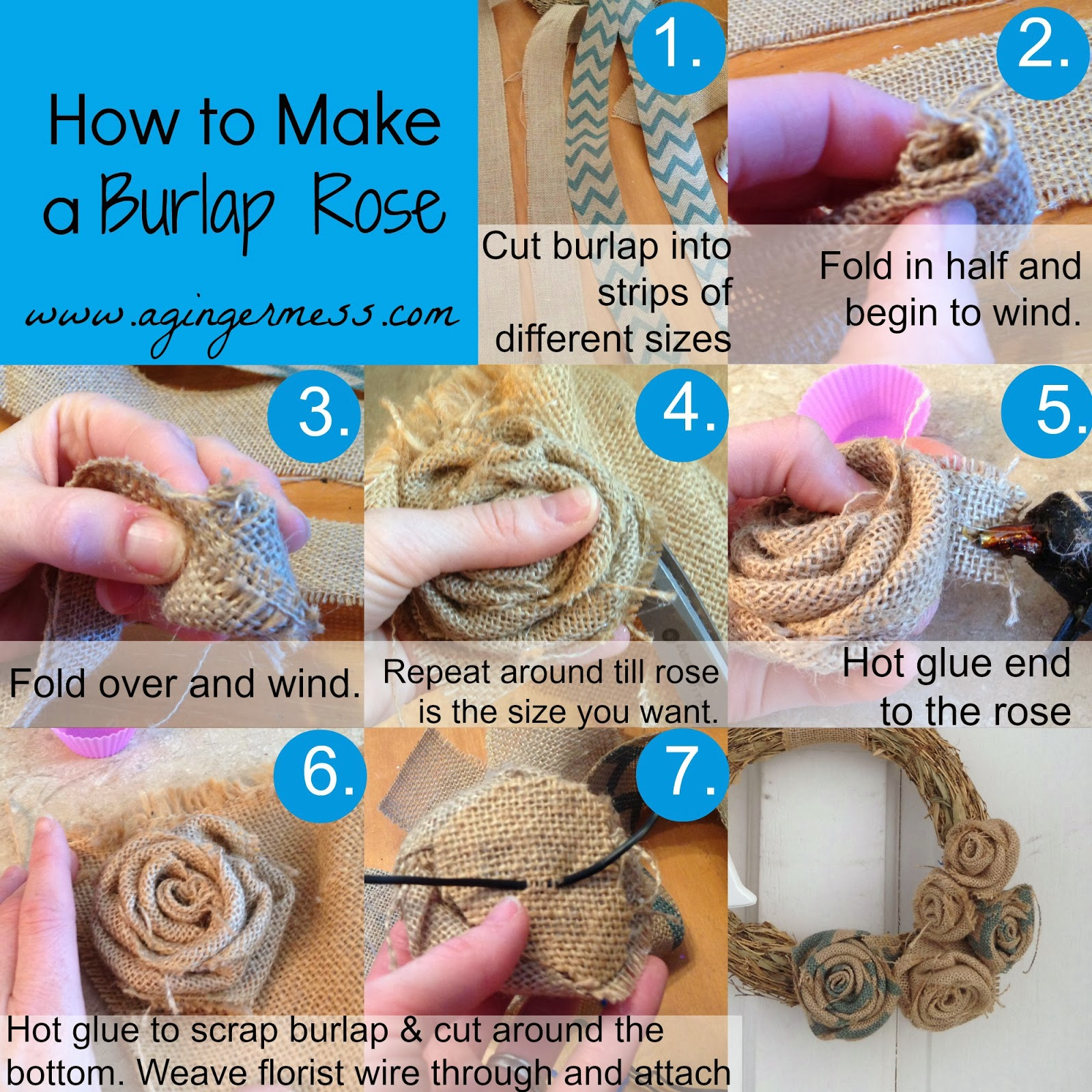 How to Make a Burlap Rose