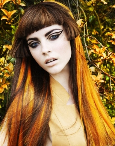 Gorgeous Orange Hair Highlights 2014
