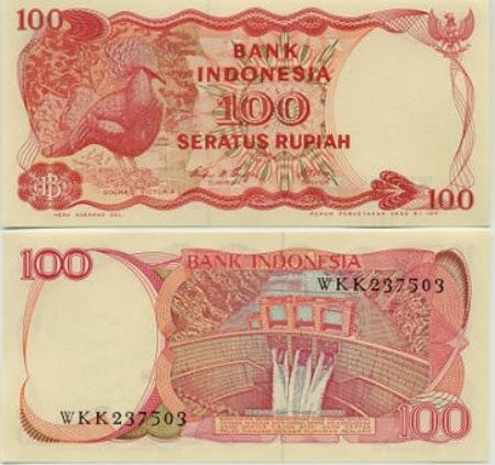 Uang Kertas 100 Rupiah 1984