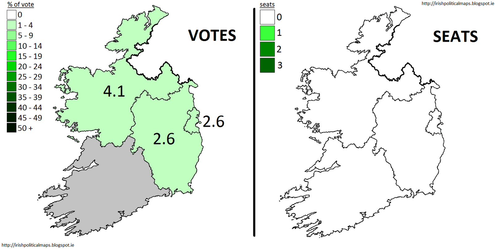 unlike the progressive democrats and the green party sinn fein was a small party which saw its fortunes decrease in this election