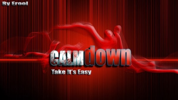 calm down red HD wallpaper