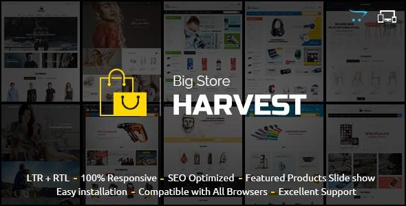 Harvest Responsive Multipurpose OpenCart Theme