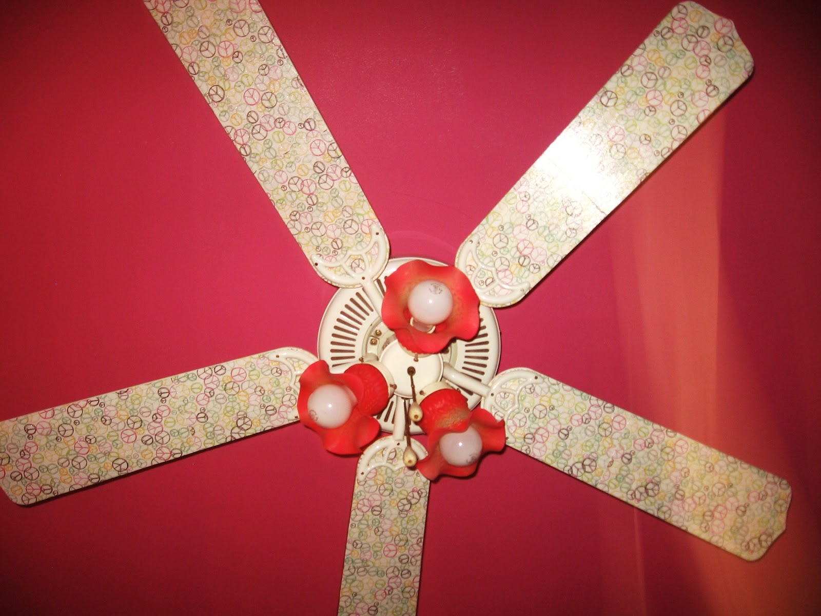 Life with Laken DIY Decoupage Ceiling Fan