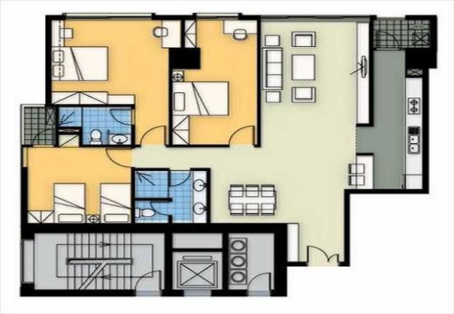 Mặt bằng căn hộ a2 chung cư Tincom City