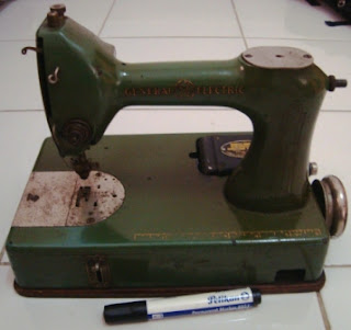 Mesin Jahit Vintage General Electric Amerika Bahan Besi Tuang