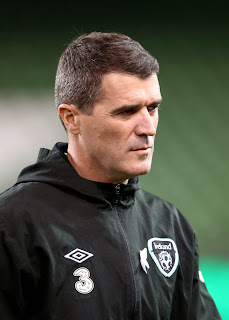 Roy Keane watching Ireland in action against Latvia last week in Dublin.