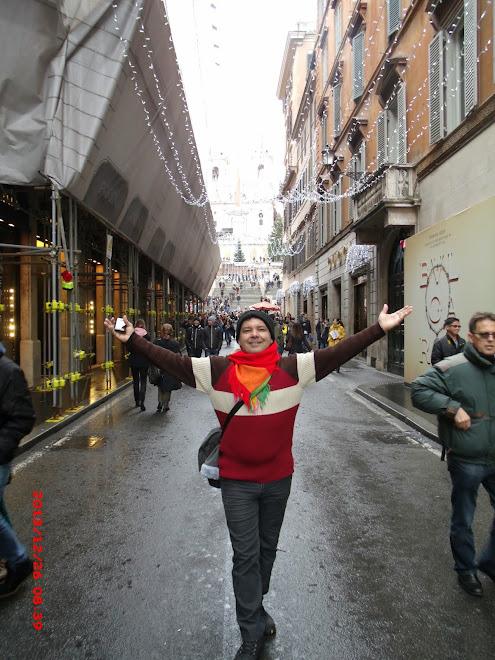 Fazendo pesquisa de moda em Roma