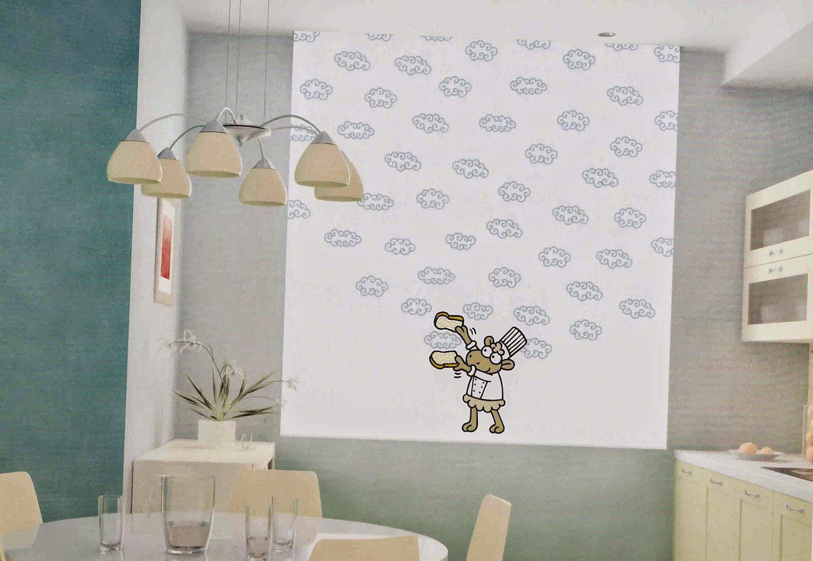 Navarro valera cortinas y ropa de hogar errollables y for Cortinas cocina originales
