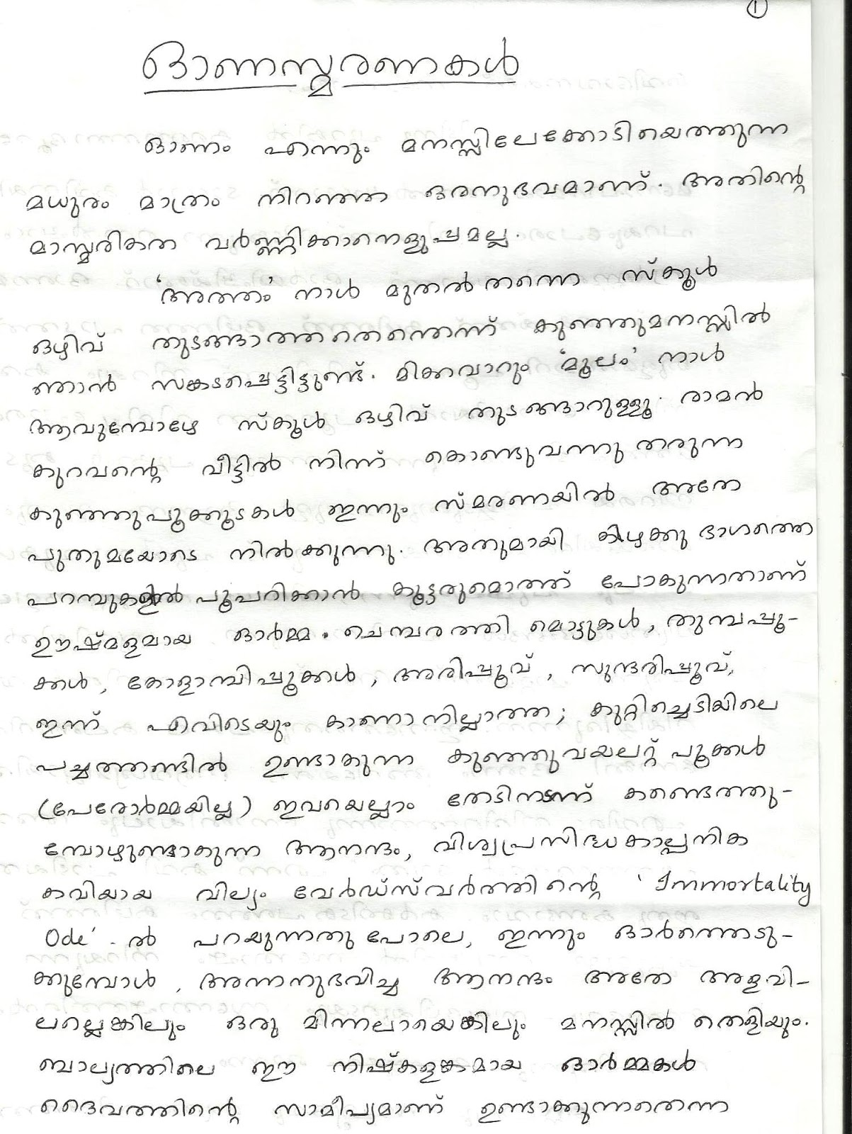 childhood memories essay in malayalam my thoughts and my hd image of my thoughts and my literary world 2013