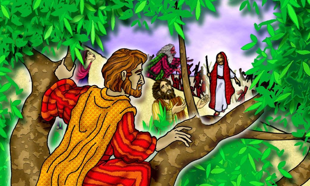 Resultado de imagen de zaqueo y jesus