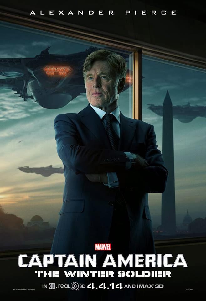 Robert Redford en el Poster Capitan America: El Soldado de Invierno