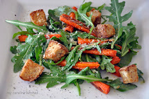 Salad with Parmesan Cheese and Carrots