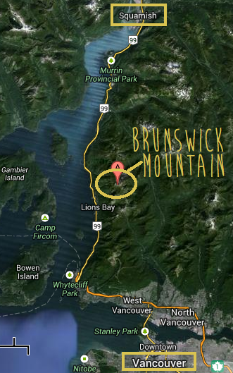 Driving from Vancouver to Lion's Bay to hike Brunswick Mountain