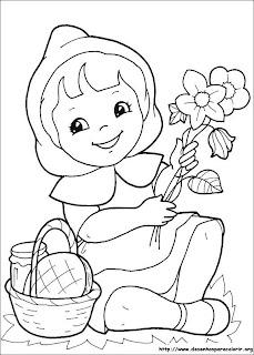 Desenhos Para Colorir chapeuzinho vermelho