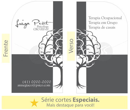 cartoes de visita psicologia  - Cartões de Visita para Psicólogos