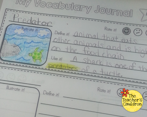 Vocabulary Journals in the Works! - Teacher by the Beach