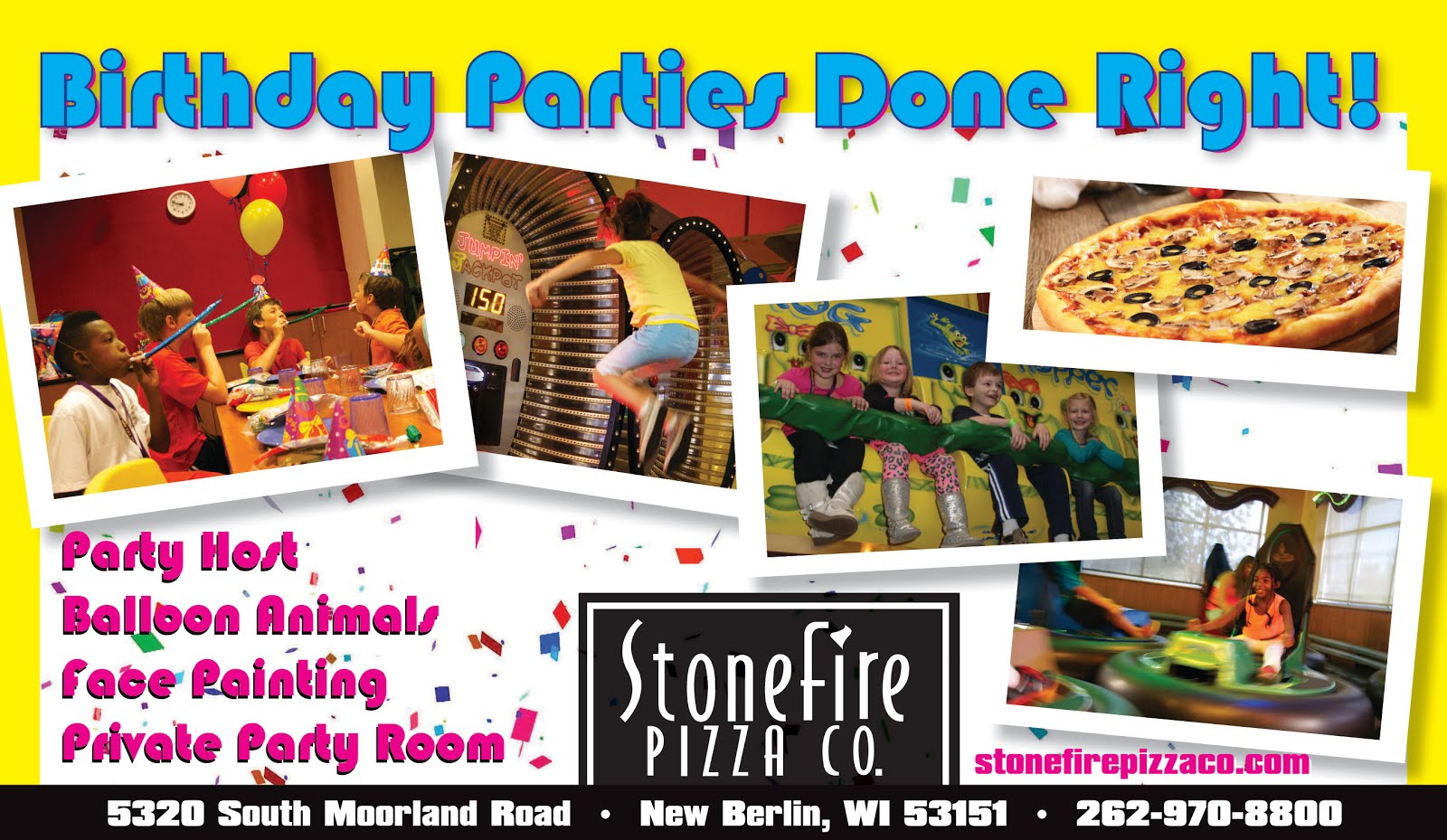 StoneFire Pizza Co. Birthday Parties