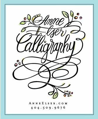 Probably polka dots Anne elser calligraphy