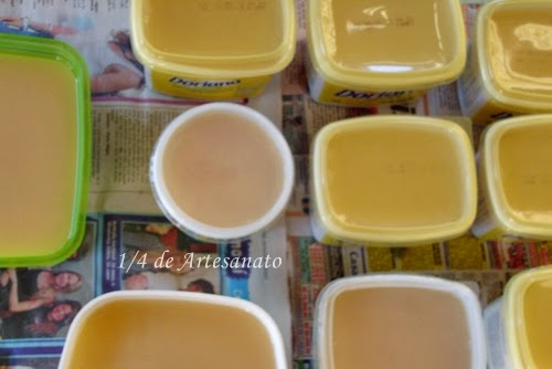 sabão feito com óleo de cozinha usado