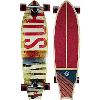 Sports authority coupon 25%: Kryptonics Swallowtaill Longboard Complete Skateboard