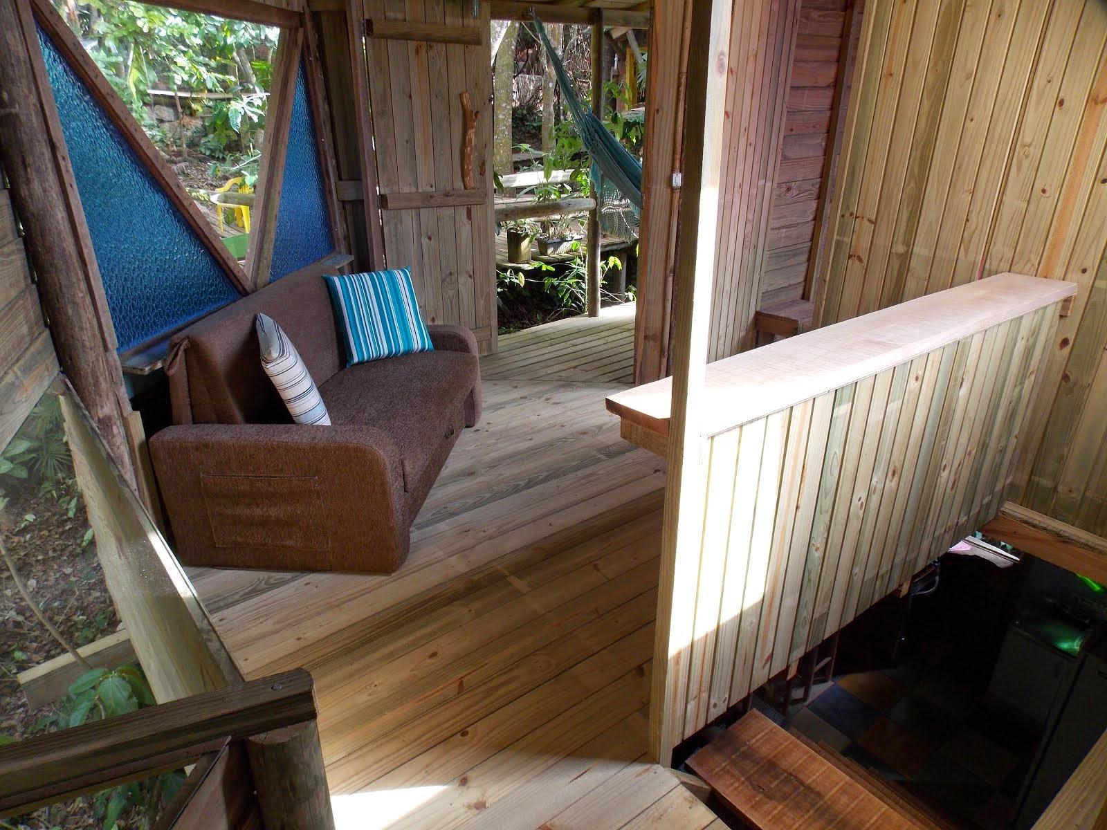 Sala com sofá cama cabana 4