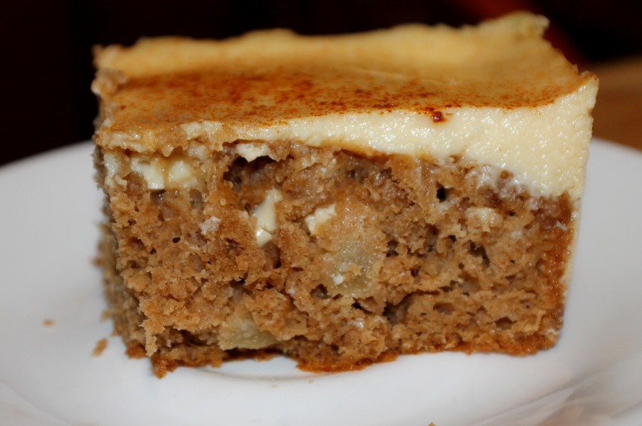 Moms Pantry: Apple Spice Custard Cake