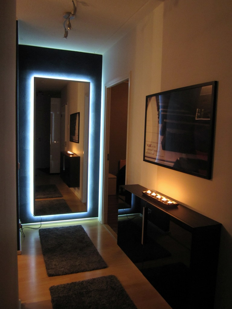 ambilight enabled hovet mirror ikea hackers ikea hackers. Black Bedroom Furniture Sets. Home Design Ideas
