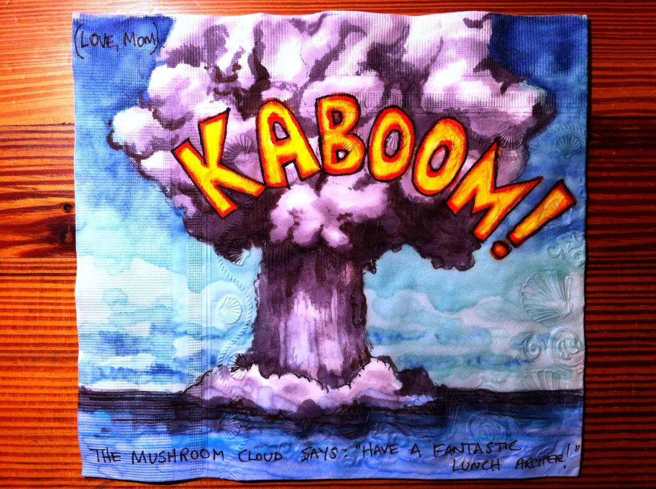 Mushroom Cloud Explosion Animated Cartoon style over the top. Nuclear ...