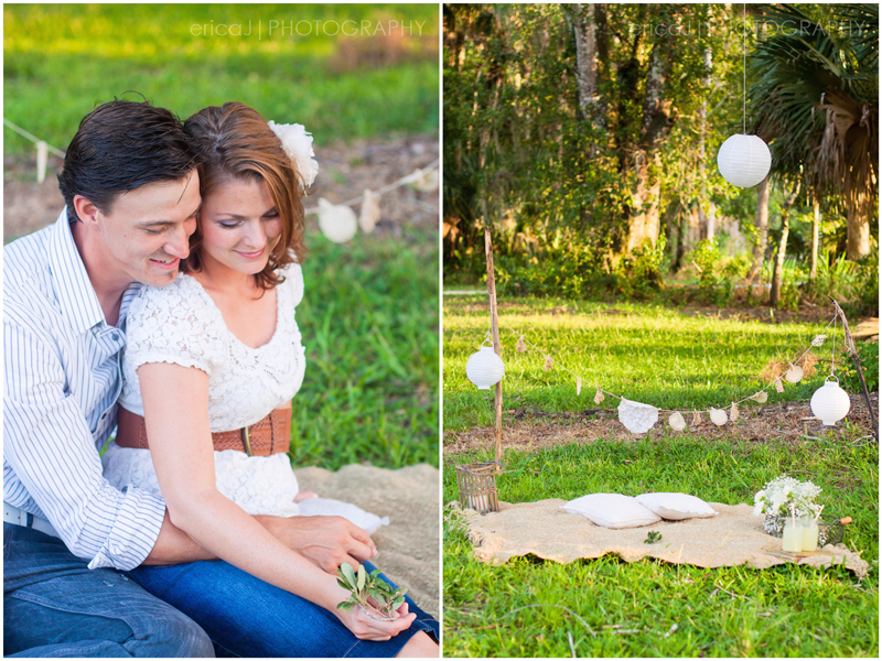 stylized picnic lemonade engagement pictures palm beach florida
