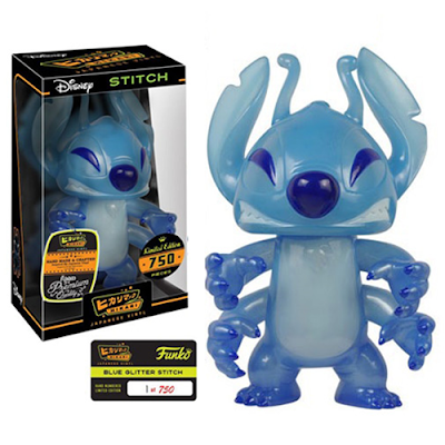 "Lilo & Stitch ""Blue Glitter"" Stitch Hikari Sofubi Vinyl Figure by Funko x Disney"